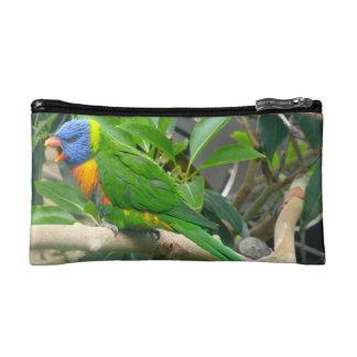 Rainbow Lorikeet Cosmetic Bags