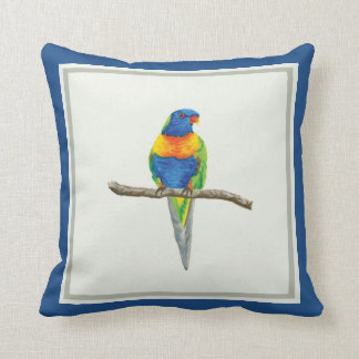 Rainbow Lorikeet Cushion - Original Watercolour