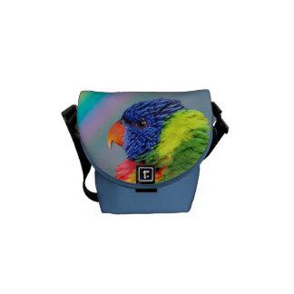 Rainbow Lorikeet Mini Messenger Bag