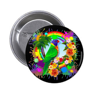 Rainbow Lorikeet Parrot Buttons