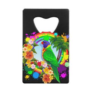 Rainbow Lorikeet Parrot Credit Card Bottle Opener