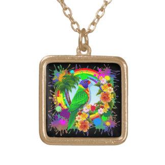 Rainbow Lorikeet Parrot Necklaces