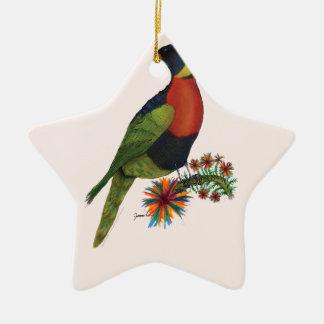 rainbow lorikeet parrot, tony fernandes ceramic star decoration