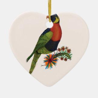 rainbow lorikeet parrot, tony fernandes christmas ornament