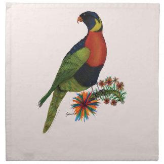rainbow lorikeet parrot, tony fernandes napkin