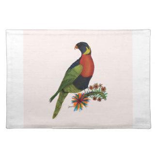 rainbow lorikeet parrot, tony fernandes placemat