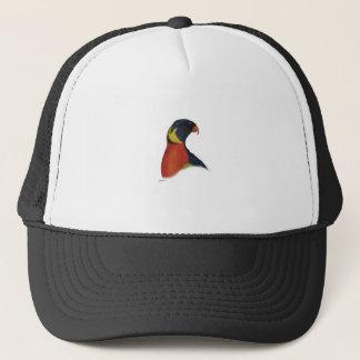 rainbow lorikeet, tony fernandes trucker hat