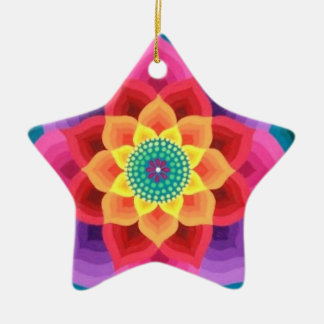 Rainbow lotus ornament by Soozie Wray