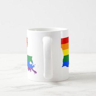 Rainbow Louisiana Basic White Mug