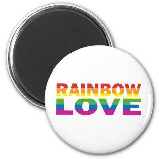 RAINBOW-LOVE 6 CM ROUND MAGNET