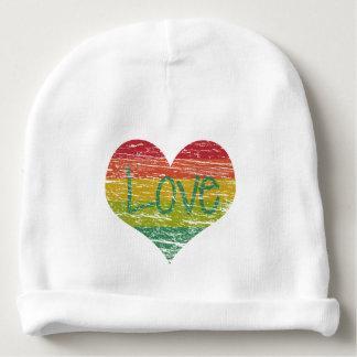 Rainbow Love Baby Beanie