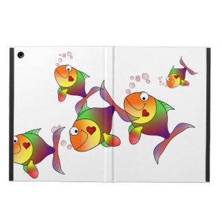 Rainbow Love Fish iPad Air Cases