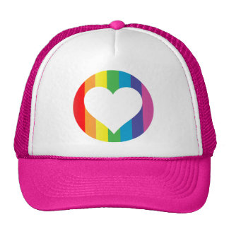 rainbow love. hat
