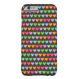 Rainbow Love Hearts Colorful Fun Cute Casing Barely There iPhone 6 Case