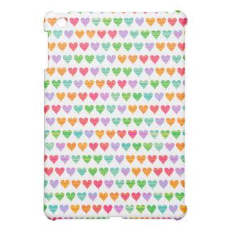 Rainbow Love Hearts Colourful Fun Pern Chic Cute iPad Mini Case