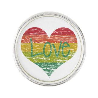 Rainbow Love Lapel Pin