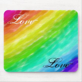 Rainbow Love Mouse Mat