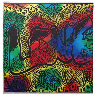 Rainbow love Napkins