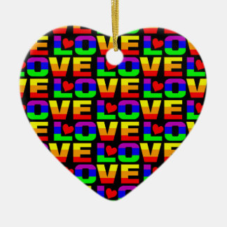 Rainbow Love ornament, customize Christmas Ornament