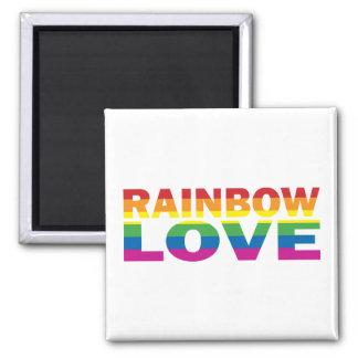 RAINBOW-LOVE SQUARE MAGNET