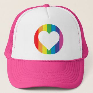 rainbow love. trucker hat