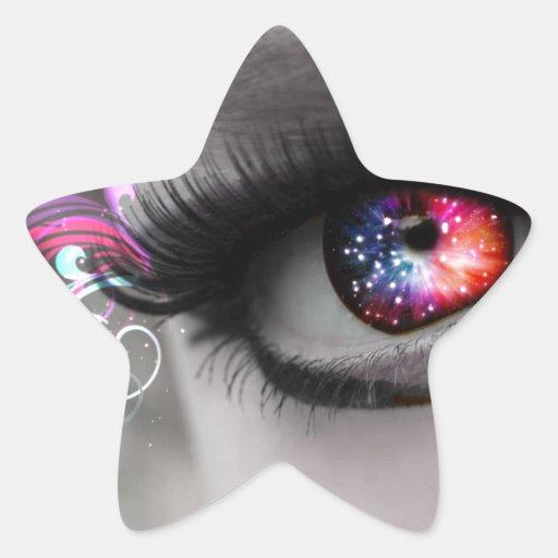 Rainbow magical eye stickers