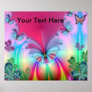 Rainbow Magical Garden Poster