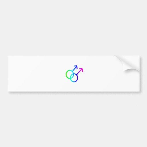 Rainbow Male Homosexual Symbol Bumper Sticker