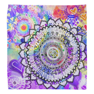 Rainbow mandala bandana