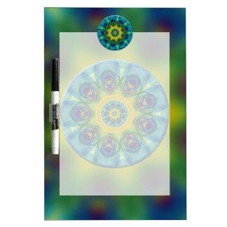 Rainbow Mandala Fractal Art Dry Erase Board