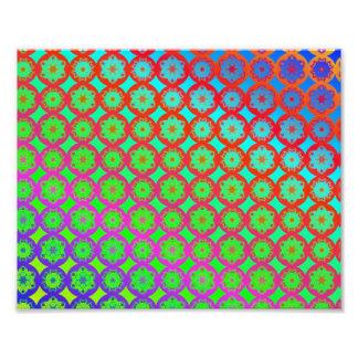 Rainbow Mandala Fractal Pattern Photo Print