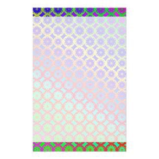 Rainbow Mandala Fractal Pattern Stationery