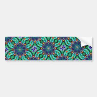 Rainbow Mandala Psychedelic Kaleidoscope Bumper Sticker