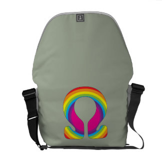 Rainbow Mantra Ohm Courier Bag