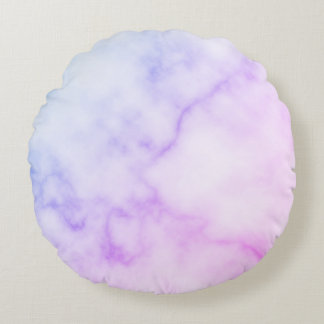 Rainbow Marble Pattern Round Cushion