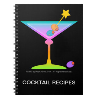 Rainbow Martinis Cocktail Recipe Notebook