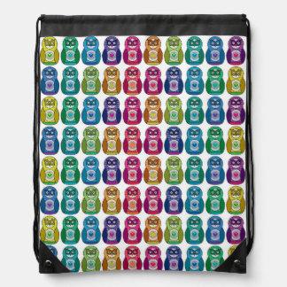 Rainbow Matryoshka Owls Backpacks