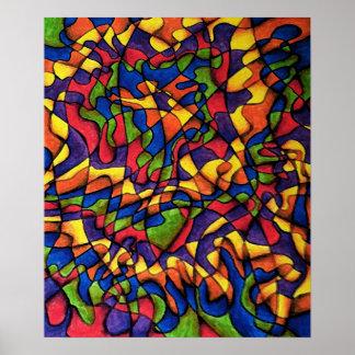 Rainbow Maze Posters