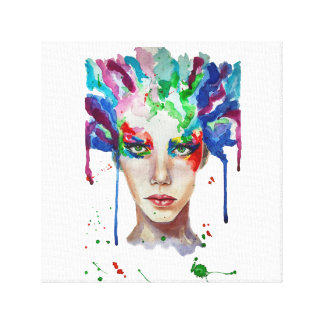 rainbow Medusa Canvas Print