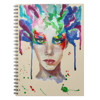 rainbow Medusa Spiral Notebook