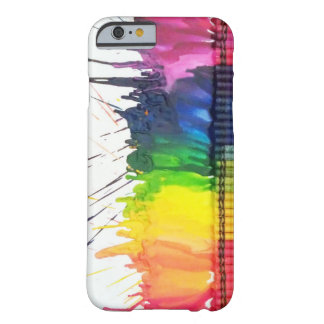 Rainbow melted crayon art iPhone 6 case