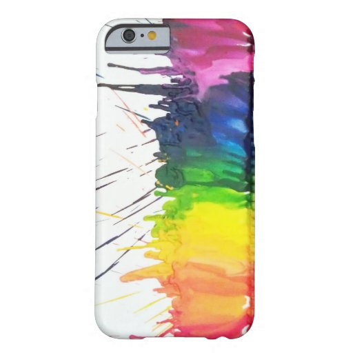 Rainbow melting crayons art iPhone 6 case