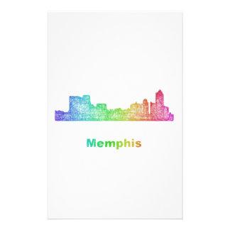 Rainbow Memphis skyline Stationery Paper