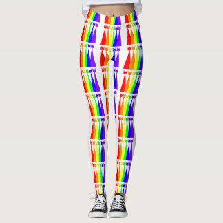 Rainbow Meows Leggings