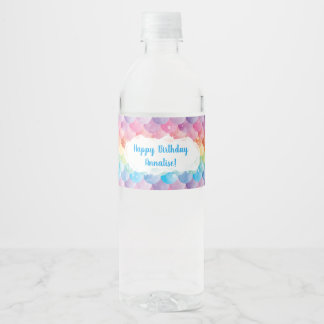 Rainbow Mermaid Water Bottle Labels
