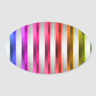 Rainbow metal stickers