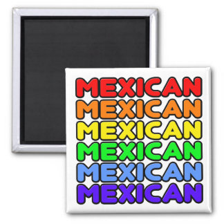 Rainbow Mexican Magnet