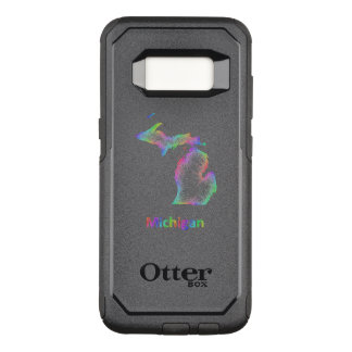 Rainbow Michigan map OtterBox Commuter Samsung Galaxy S8 Case