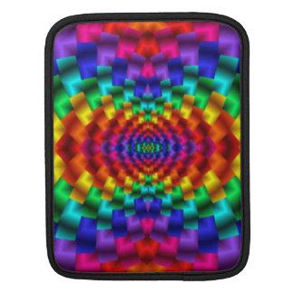 Rainbow Mind Warp Psychedelic Fractal iPad Sleeve