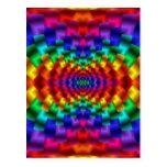 Rainbow Mind Warp Psychedelic Fractal Postcard
